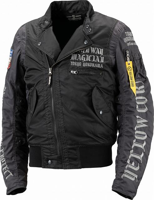 【あす楽】【メンズ】YB8301【ブラック】【3Lサイズ】ウィンタージャケット イエローコーン【防寒】【肩・肘・背中プロテクター標準装備】