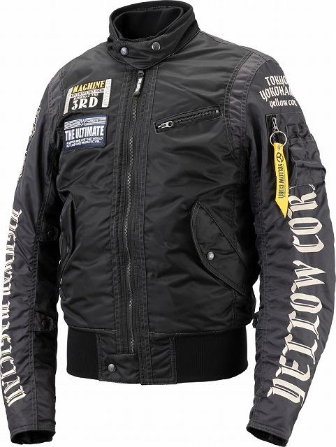 【メンズ】YB8302【ブラック】【3Lサイズ】ウィンタージャケット イエローコーン【防寒】【肩・肘・背中プロテクター標準装備】