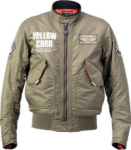 2020FW 2020新作 あす楽 イエローコーン YeLLOW CORN ウィンタージャケット ジャケット YB-0302 国内正規総代理店アイテム バイク カーキ Mサイズ メンズ