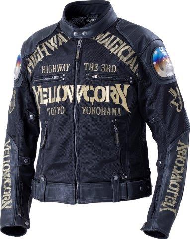 【あす楽】 イエローコーン/YeLLOWCORNE メッシュジャケット メンズ/チタン ブラック/ゴールド 3Lサイズ YB-0109