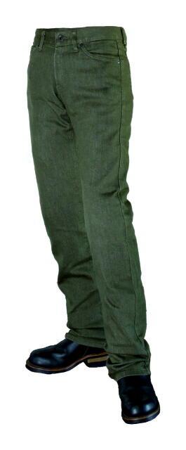メンズ 全店販売中 PP-542 オリーブ サイズ32 スマートライダースジーンズ パワーエイジ ストレート 14オンスデニム 膝 腰プロテクター装備 在庫処分 バイク用設計