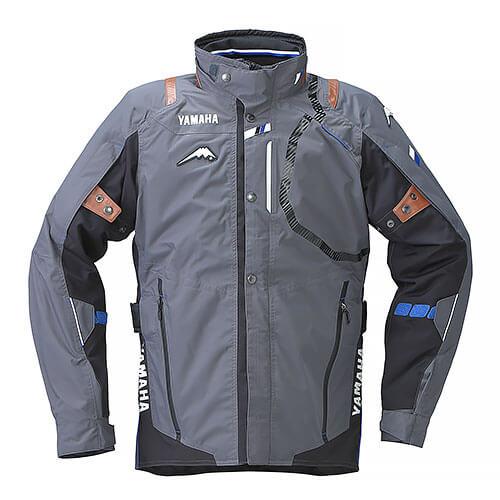 YAF53K【グレー】【Mサイズ】Motoウィンターツーリングジャケット ヤマハ×クシタニ【防水】【脱着式防寒インナー装備】【ストームガード】【肩・肘・背中プロテクター標準装備】