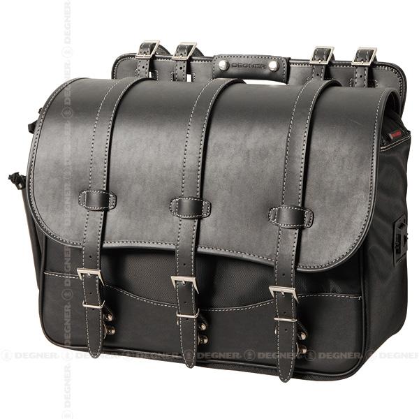 【デグナー/DEGNER】【NB-125 ブラック】【ナイロンサドルバッグ】 【シングル】【PVC(合成皮革)/ナイロン】【26L】【H32×W45×D20(cm)】