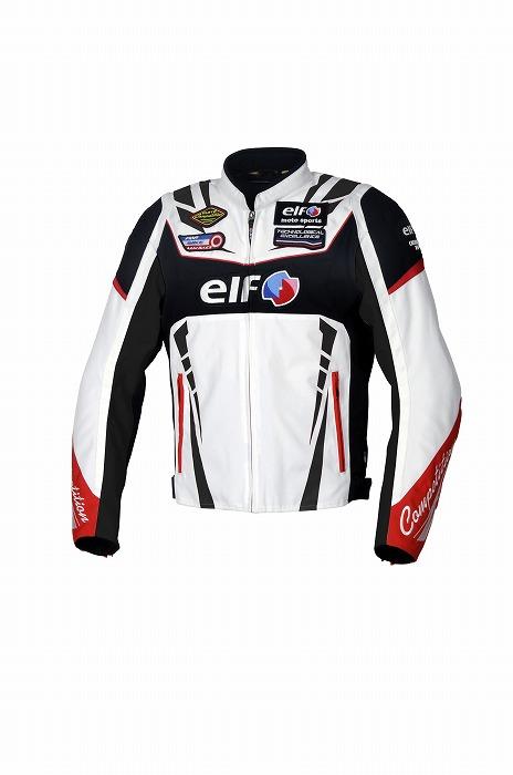 あす楽 メンズ 絶品 EL-9247 ホワイト Sサイズ ヴィットリアスポルトジャケット エルフ 胸 新作通販 肘 プロテクター標準装備 防寒着脱式インナー 肩 背中