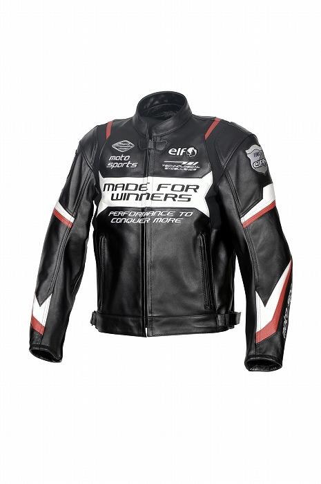 2021SS あす楽 エルフ elf スポルトレザージャケット バイク Mサイズ レッド 年末年始大決算 メンズ ELJ-A01 交換無料