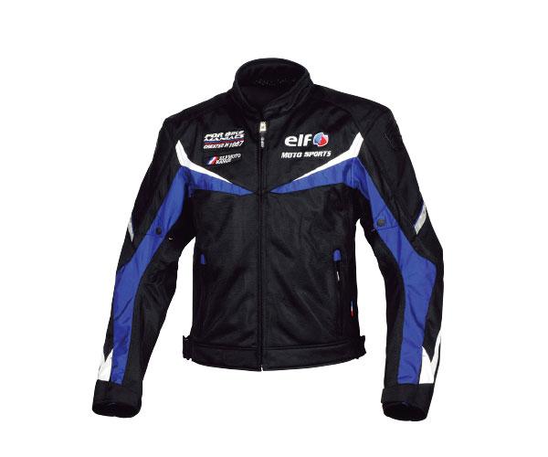 【メンズ】EL-9227【ブルー】【Lサイズ】ベローチェメッシュジャケット エルフ【肩・肘・背中プロテクター標準装備】