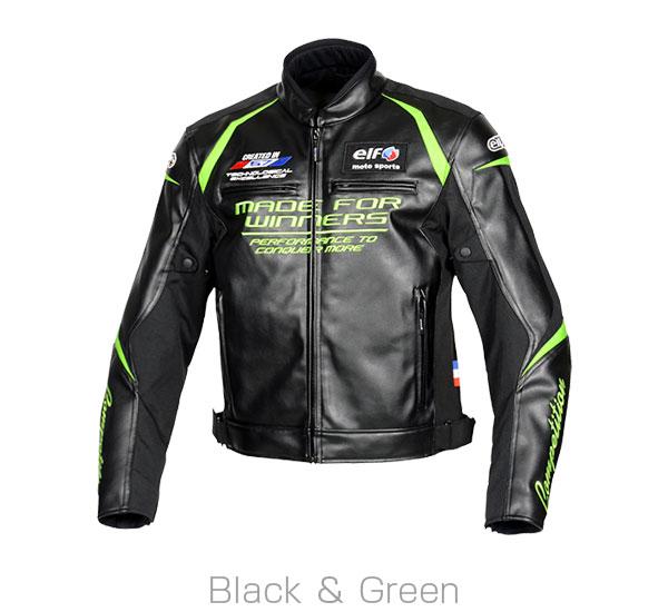 2020FW あす楽 エルフ elf エヴォルツィオーネPUレザージャケット 交換無料 バイク ブラック 4Lサイズ メンズ EJ-W108 男女兼用 グリーン ジャケット