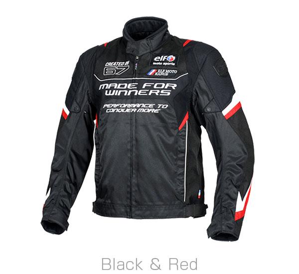 2020FW あす楽 エルフ elf 大幅値下げランキング WPヴィストーゾジャケット バイク 3Lサイズ ブラック メンズ EJ-A107 誕生日/お祝い ジャケット レッド