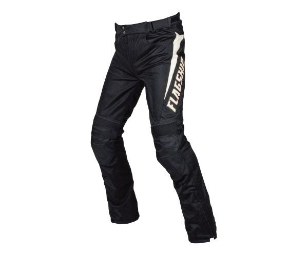2021SS 贈呈 フラッグシップ FLAGSHIP エアーライドパンツ バイク メンズ 着後レビューで 送料無料 ホワイト FMP-S191 LLサイズ ブラック 春夏 M