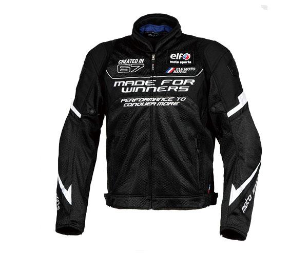 2021SS あす楽 エルフ elf エボルツィオーネメッシュジャケット バイク LLサイズ メーカー公式ショップ EJ-S101EVO メンズ 春夏 10%OFF ブラック