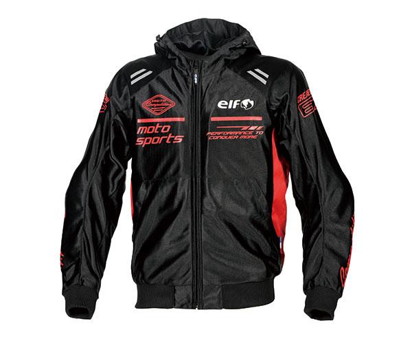 再入荷 予約販売 2021SS エルフ elf 限定タイムセール ソリトメッシュパーカー バイクジャケット 春夏 Mサイズ メンズ EJ-S104 レッド
