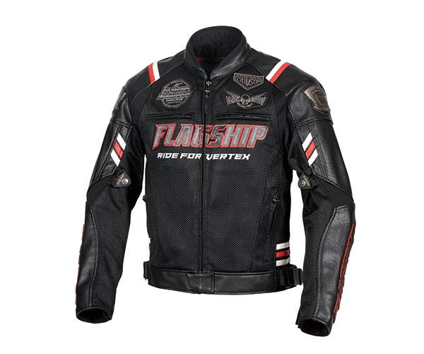 2021SS 与え フラッグシップ FLAGSHIP 新品未使用正規品 ヴァーテックスメッシュジャケット バイク Lサイズ レッド FJ-S206G 春夏 メンズ