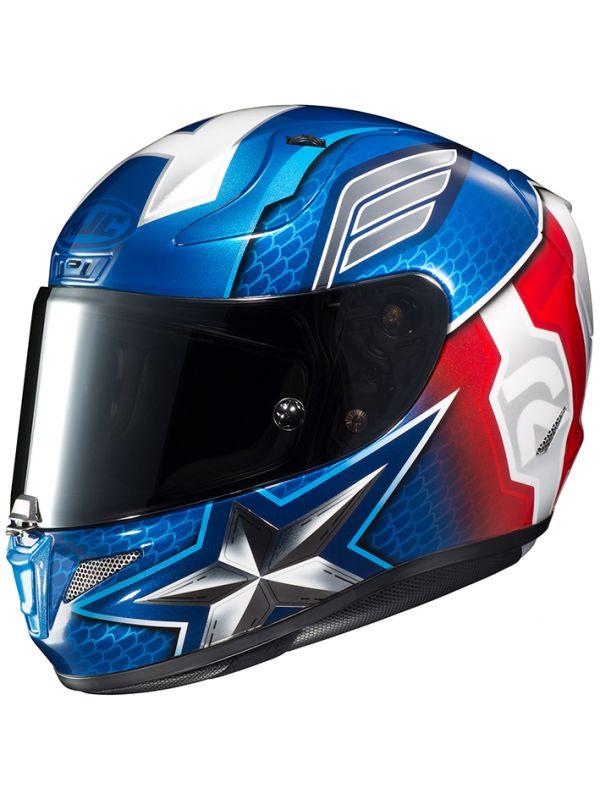 HJC(エイチジェイシー)バイクヘルメット フルフェイス CAPTAIN AMERICA(MC2) (サイズ:M) MARVEL RPHA11 CAPTAIN AMERICA(キャプテンアメリカ) HJH179