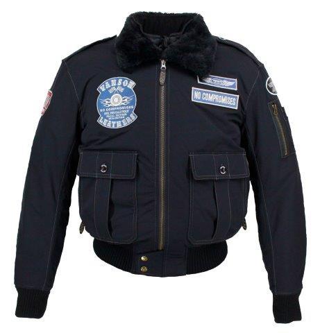 2020FW あす楽 SALE VANSON バンソン ナイロンジャケット メーカー公式 バイク ブラック シルバー メンズ 秋冬 XLサイズ VS20116W