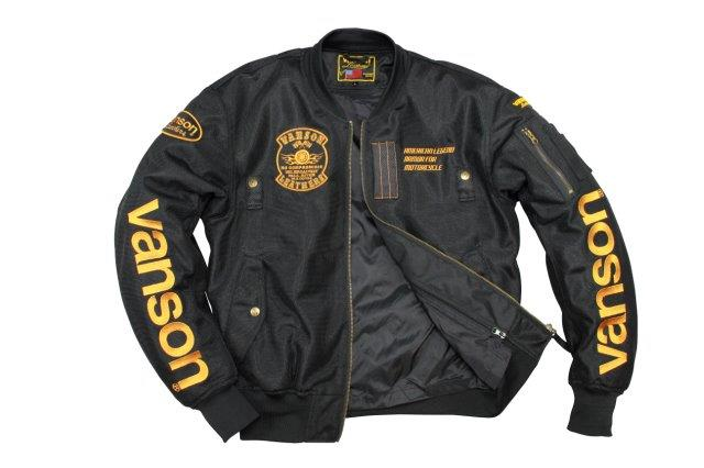 VANSON/バンソン メッシュジャケット メンズ/通気性/安全性 ブラック/イエロー Lサイズ VS20102S