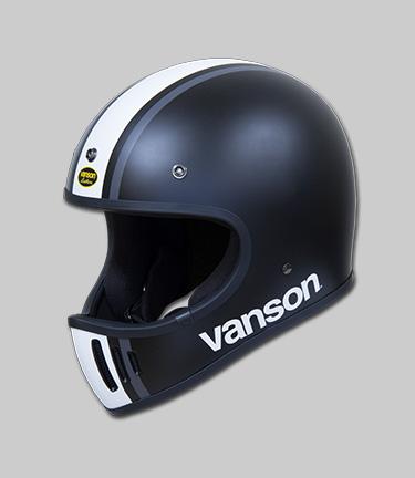 【あす楽】VANSON/バンソン FIGHTER2 マットブラック/ホワイト/ガンメタ Mサイズ VS19708H【着脱可能なロングバイザー付属】