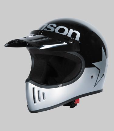 【あす楽】VS18705H【ブラック/シルバー】【Mサイズ】BEOWULF ベオウルフ【VANSON】【ヴァンソン】【着脱可能なロングバイザー付属】