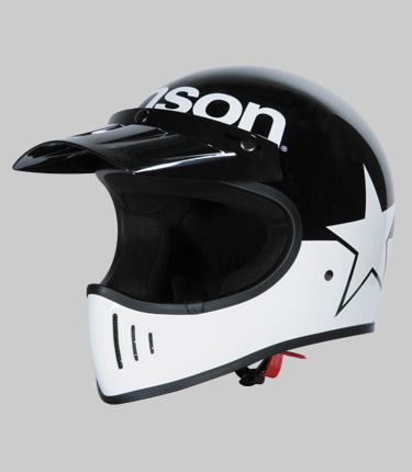 【あす楽】VS1805H【ブラック/ホワイト】【Mサイズ】BEOWULF ベオウルフ【VANSON】【ヴァンソン】【着脱可能なロングバイザー付属】