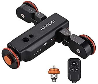 中古 Andoer L4 流行のアイテム 3輪 電動ドリー ミニ 3速調整可能 アルミ製 DSLRカメラ用 アクションカメラ用 最大負荷5kg Canon タイム Sony 休み スマートフォン用 Nikon