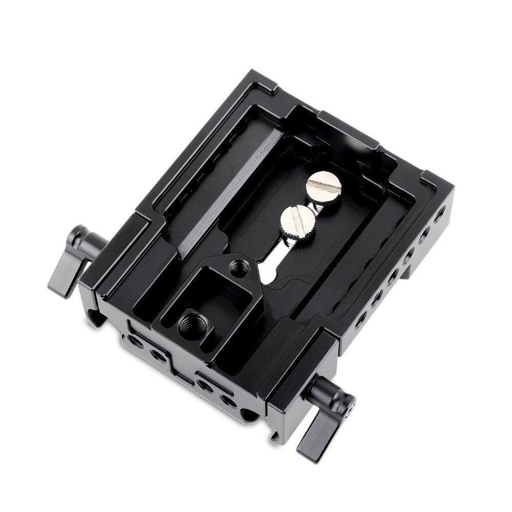 SMALLRIG 汎用ベースプレート(アルミ製)ほとんどの一眼レフマイクカメラに適用 -1740