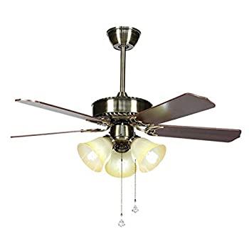 本物保証!  【】リモコン付きのモダンなクロームメッキの天井扇風機、3スポット、5つの可逆翼と52インチ照明器具付きの実用的なオン/オフプルスイッチ/天井扇風, オオタマチ 33e509ce