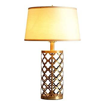 LLS テーブルランプ デスクライト ブックライト アメリカの光の高級テーブルランプ、寝室のベッドサイドランプ、現代的なミニマリスト北欧スタイ4j5L3ASqcR