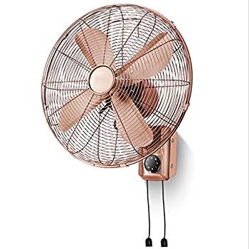 中古 新登場 WMMING 16インチ壁掛け扇風機リモコンタイマーレトロファンホームヘッド扇風機を動かします : Mechanical 2020 Color