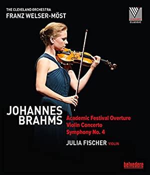 中古 Johannes Brahms: Academic Festival Overture; Violin Concerto; Symphony Julia 定価 No. Orchestra; Franz Cleveland Welser-Most Fischer; B 超定番 4