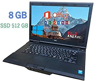 中古 中古ノートPC MS Office付き VA-M Core i3 4100M 2.5 Ghz メモリ 8 TFT NEC-Versapro 10 SSD おすすめ 512 売り込み Pro GB DVD Wifi Windows 画面15.6W