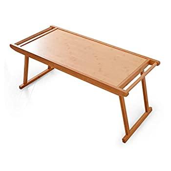 中古 ランキング総合1位 売却 xiaoyuhy 折りたたみノートパソコンテーブル ポータブルスタンディングデスク 朝食ソファ読書テーブル 39cm 木製カラー 96cm 43cm 2