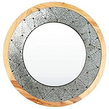 新しい季節 【】大型モダン円形木製フレーム壁取り付けミラー 大型装飾ミラー リビングルームやバスルーム用 (直径31インチ/79cm), 常陸太田市:ba4bfabb --- easyacesynergy.com