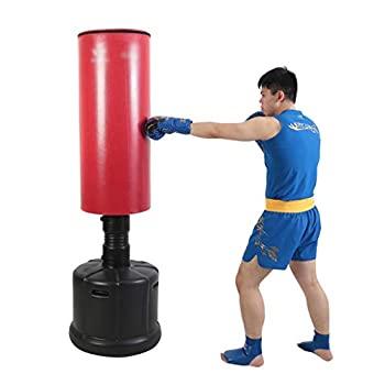【中古】ボクシングバッグ三田垂直家庭用タンブラーボクシングバッグ大人子供テコンドートレーニング機器フィットネス機器 (Color : Red Size : 180*57*5