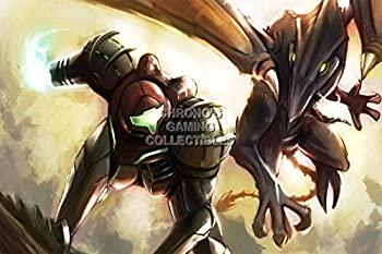 無料配達 【】CGC Hugeポスター???Metroid Prime 1?2?3?Samus vs Ridley Nintendo GameCube Wii???metp03 24