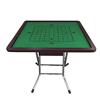 【中古】麻雀ゲームテーブル 麻雀表カードのダイニングポーカードミノ軽量スクエア表中国の和風折りたたみ4脚Majiang表 (色 : High gloss plating bracke