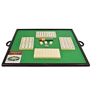 【中古】麻雀ゲームテーブル 麻雀テーブル折りたたみ木製麻雀表世帯ハンド麻雀タイルアイボリー麻雀麻雀ポータブルデスクトップ (色 : 褐色 サイズ : ワ