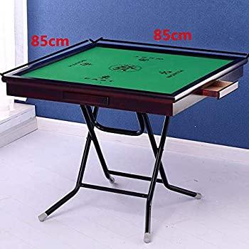 【中古】麻雀ゲームテーブル ポータブルシンプルなハンド麻雀表85センチメートルライトソリッド木目デュアルユース表面+ステンレスフレーム (色 : 褐色