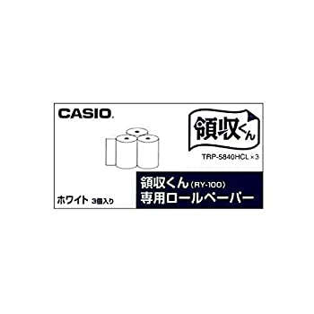 中古 まとめ カシオ 電子レジスター用 ロールペーパー紙幅58mm 〔×5セット〕 1パック 至上 おしゃれ 3個 TRP-5840HCL 3