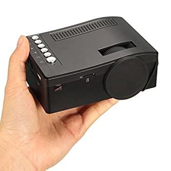【中古】Teshony ミニLEDプロジェクター小型 ホームシネマ 1080P HD AV/ USB /TF/ HDMI対応できる リモコン付き (ブラック)