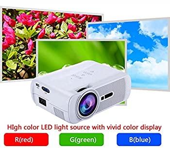 中古 Android 信託 人気 Miracast WiFiディスプレイ1800Lumen LEDプロジェクターサポート1080P Bluetooth LCDビデオビーマーホームシアターのシネマアナログT HD