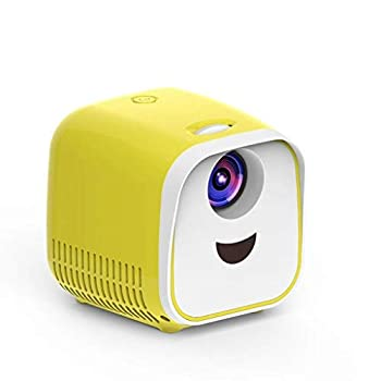 【中古】ビデオプロジェクター L1子供プロジェクターミニミニLEDポータブルホームスピーカープロジェクター (色 : 黄)