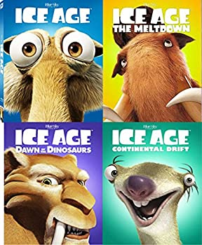 【最新入荷】 Ice Age Complete 4 Movie Collection Blu Ray with Face Covers / The Meltdown / Continental Drift & Dawn of The Dinosaurs, 家具のおたふくさん cc82e56c