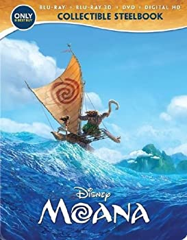 【新品本物】 Disney&39;s MOANA Steelbook (3D Blu-ray + 2D blu-ray + DVD + Digital HD Steelbook) [Exclusive Limited US Edition], BALI&ALOHASTYLE 71712271