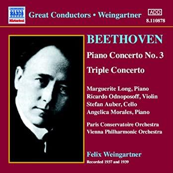 SEAL限定商品 中古 ベートーヴェン:ピアノ協奏曲第3番 ピアノ 1937-1939 NEW ARRIVAL ワインガルトナー ヴァイオリンとチェロのための三重協奏曲