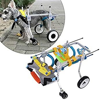 新登場 新品 犬用車椅子 愛犬の 車いす ペット 歩行器 犬 補助輪 ※ラッピング ※ XS広がり 元気 調整可能 リハビ アルミ合金素材 歩行補助 後ろ足 バックル付き