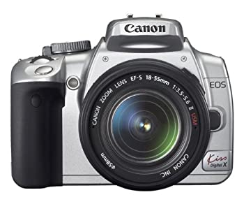 中古 Canon デジタル一眼レフカメラ EOS 完全送料無料 Kiss X シルバー レンズキット KISSDXS-LKIT デジタル 当店は最高な サービスを提供します