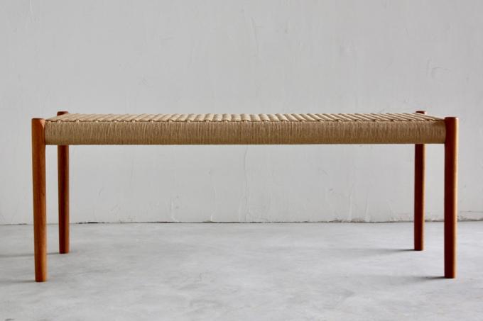 【北欧家具】【JL Moller(JL モラー)】ダイニングベンチ 63A チーク材 【新品】