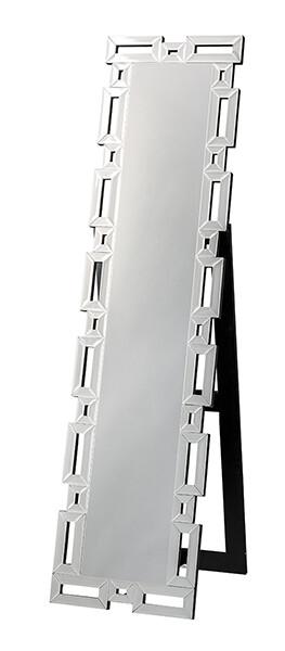送料無料 スタンディングミラー 角 スタンドミラー 全身 アンティーク ゴージャス 鏡 姿見 スタンド おしゃれ 高級感