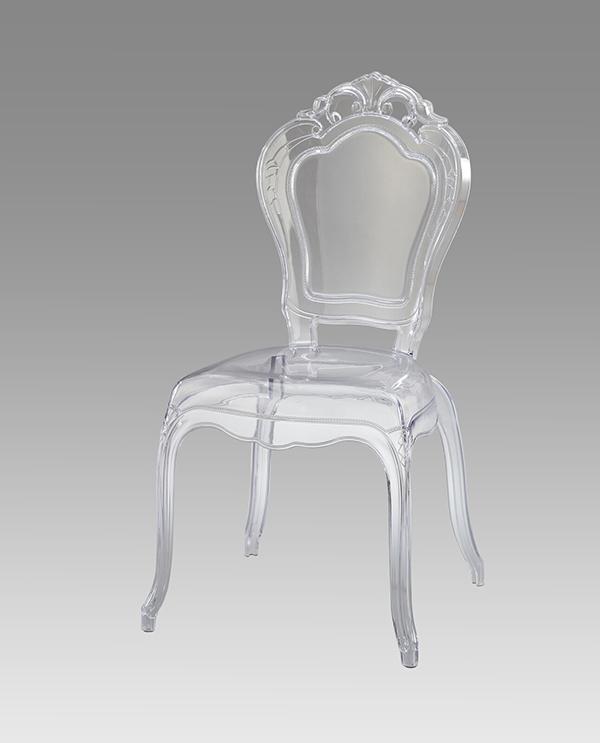 送料無料 スケルトンチェア 肘なし ダイニングチェアー アンティーク おしゃれ イス 椅子 いす チェア コモ ラウンジチェアー ガーデンチェアー 透明 クラシック