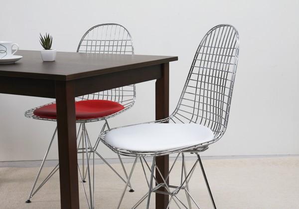 ダイニングチェア 1脚 食卓椅子 椅子 イス いす デザイナーズ イームズ イームズワイヤーチェア DKR おしゃれ 北欧 モダン ミッドセンチュリー レトロ