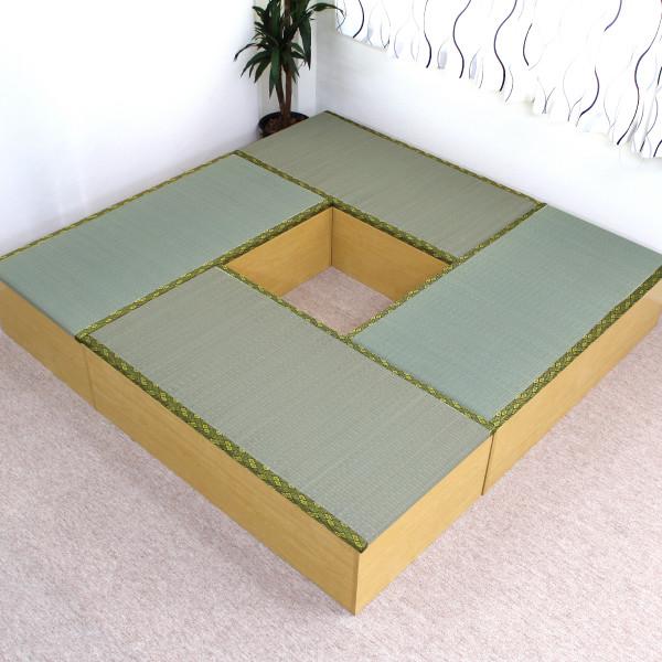 送料無料 高床式ユニット畳(1畳タイプ4本セット)ナチュラル 収納ボックス たたみベンチ 収納ベンチ 畳ユニット おもちゃ箱 畳ボックス 収納ボックス 大容量 和風